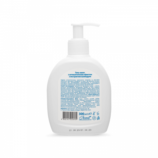 Gel-soap with antiseptic effect with calendula extract and vitamin E, 300 ml