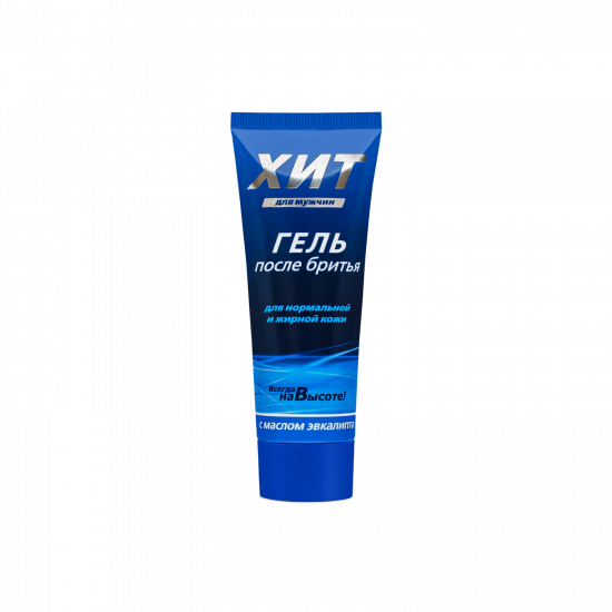 After shave gel with eucalyptus oil «ХИТ for men» for normal and oily skin, 70 g
