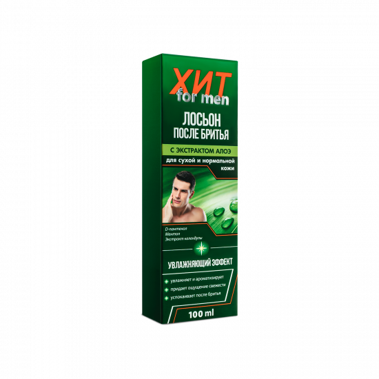 """After shave lotion with aloe extract """"HIT for men"""", 100 ml"""