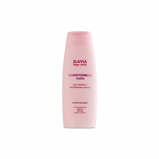 """Balm-conditioner """"SLAVIA Lege Artis"""" fortifying thin and split ends, 400 ml"""