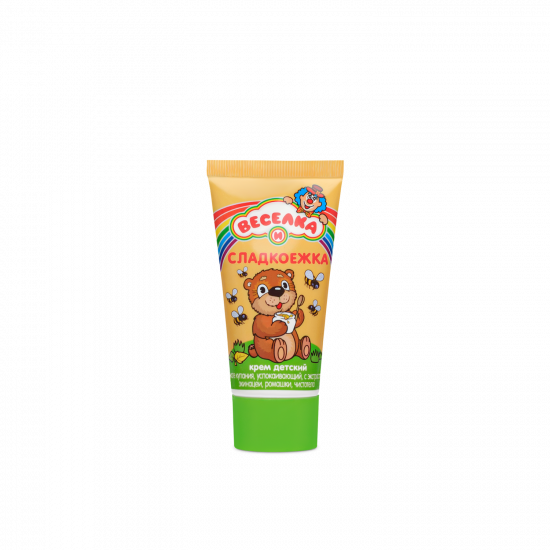"""Baby cream after bathing, softening, moisturizing """"VESELKA AND SWEETCOOK"""", 50 g"""