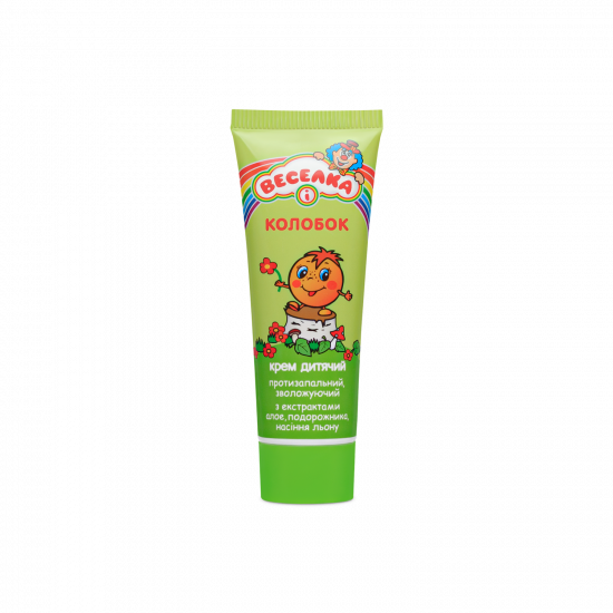 "Soothing and moisturizing baby cream ""VESELKA AND KOLOBOK"", 70 g"