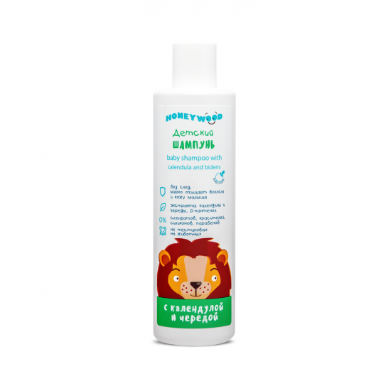 Children's shampoo with calendula and succession, Honeywood, 250 ml