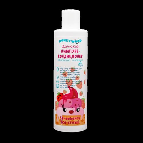 Baby shampoo-conditioner Strawberry ice-cream, Honeywood, 250 ml