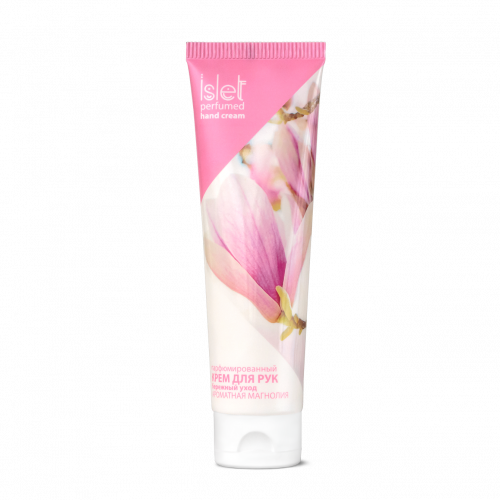 Perfumed hand cream «Gentle care. Fragrant Magnolia» Islet, 90 g (100 ml)