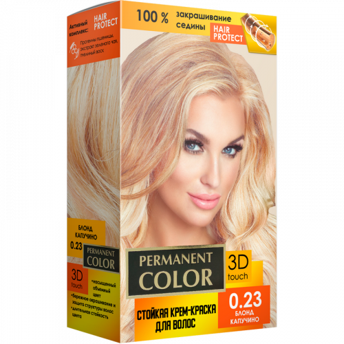 "Cream-color for hair with an oxidizing agent ""Permanent Color"" tone ""Blonde cappuccino"" No. 0.23"